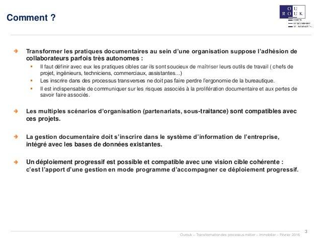 La dématérialisation des processus métiers Slide 3