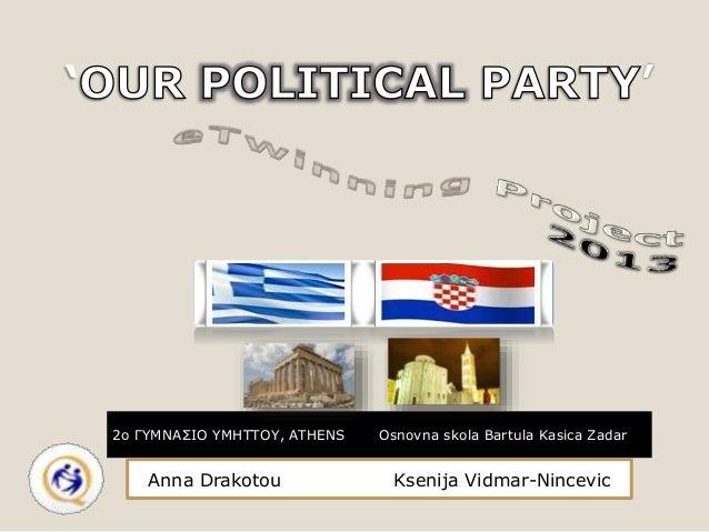 '  2o ΓΥΜΝΑΣΙΟ ΥΜΗΤΤΟΥ, ATHENS  Anna Drakotou  Osnovna skola Bartula Kasica Zadar  Ksenija Vidmar-Nincevic