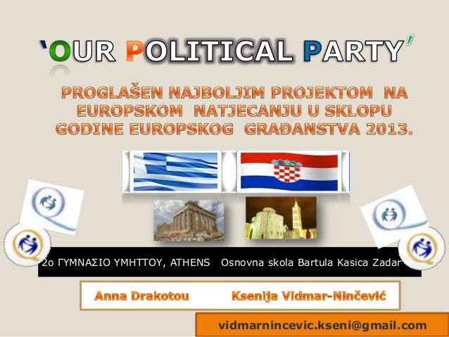 '  2o ΓΥΜΝΑΣΙΟ ΥΜΗΤΤΟΥ, ATHENS  Osnovna skola Bartula Kasica Zadar  vidmarnincevic.kseni@gmail.com