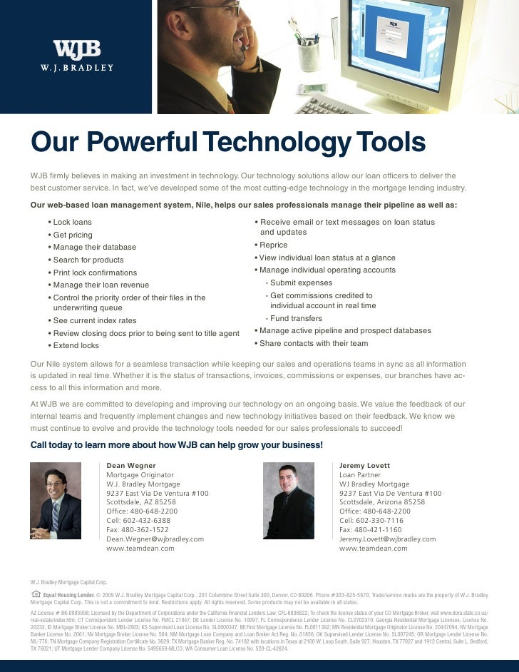 Our Powerful Technology Tools WJB firmly believes in making an investment in technology. Our technology solutions allow ou...
