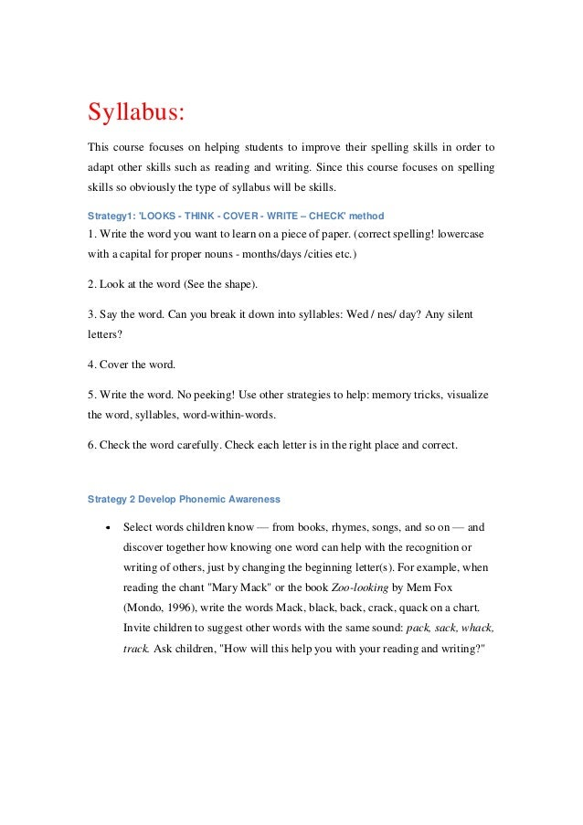 spelling coursework This english spelling course contains hundreds of pages of online teaching across 44 units in both a starter and main course the courses teach all the english spelling rules and rule.