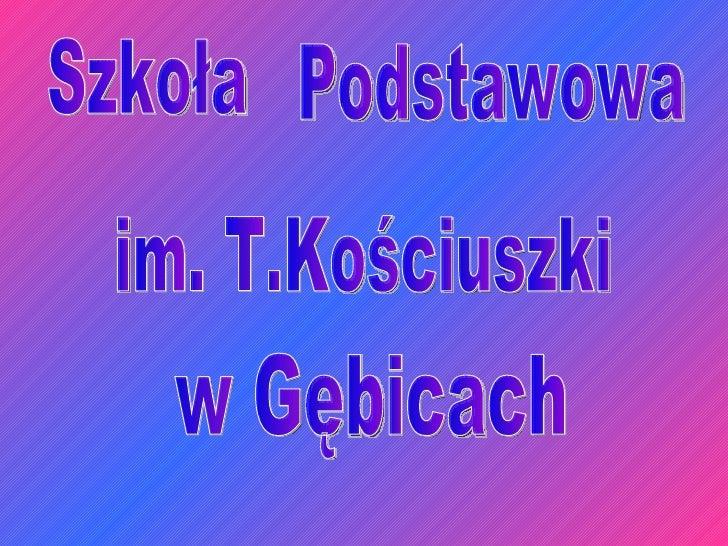 Szkoła Podstawowa im. T.Kościuszki w Gębicach
