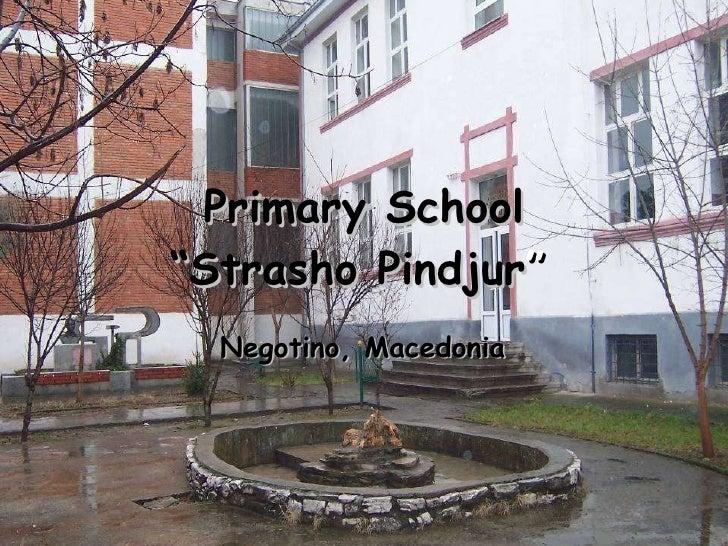 "Primary School ""Strasho Pindjur ""   Negotino, Macedonia"