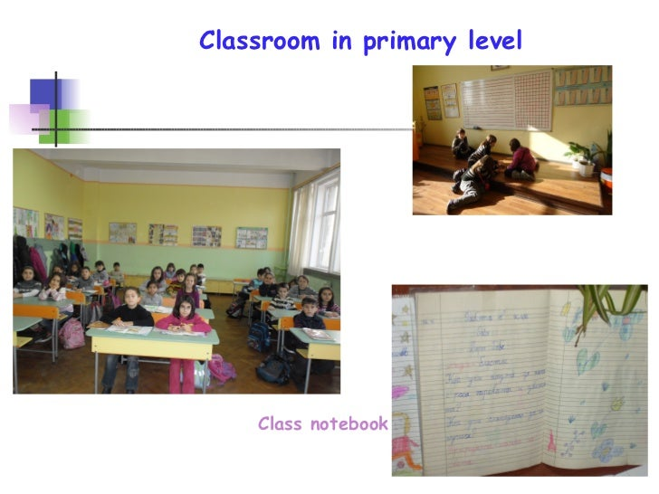 Classroom in primary level Class notebook