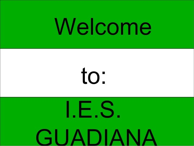 Welcome  to:I.E.S.