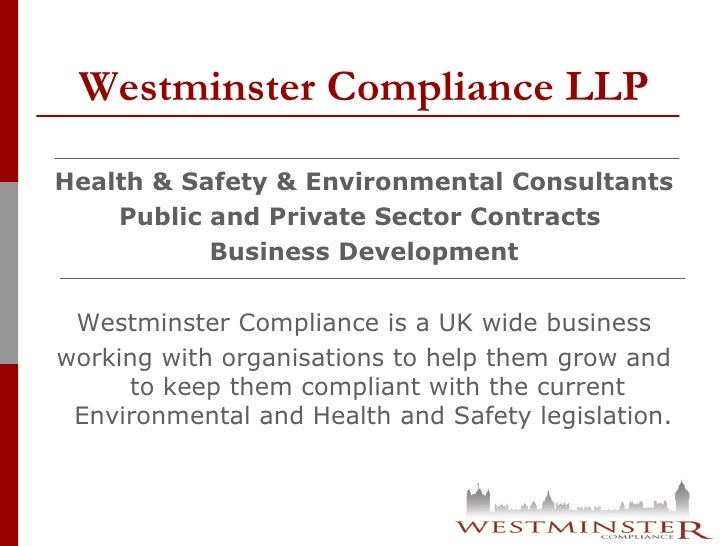 Our Services - Westminster Compliance Slide 2