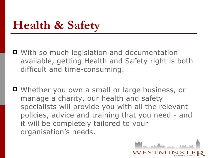 Our Services - Westminster Compliance Slide 3