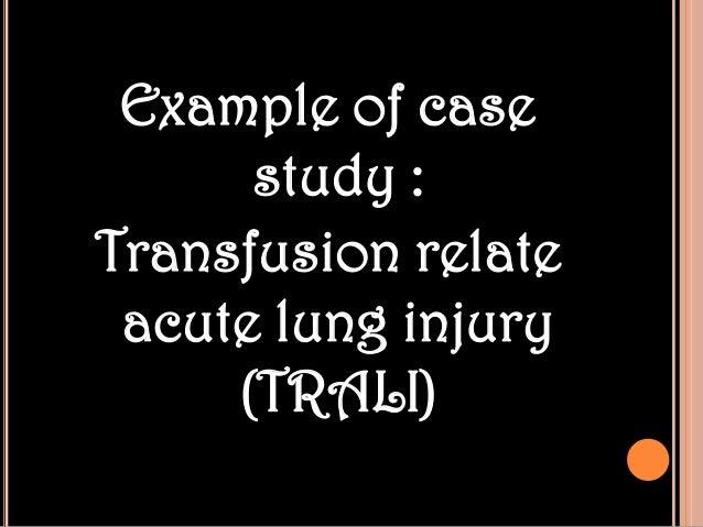 transfusion situation study