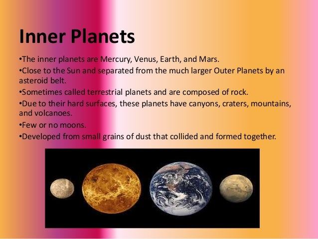 information about the inner planets - photo #10