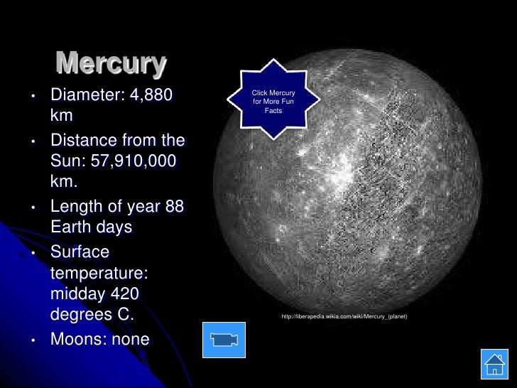 mercury planet comparison chart - photo #37
