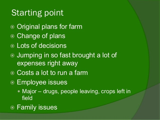 Holistic business/Life: Our journey with Strategic Farm Planning Slide 2