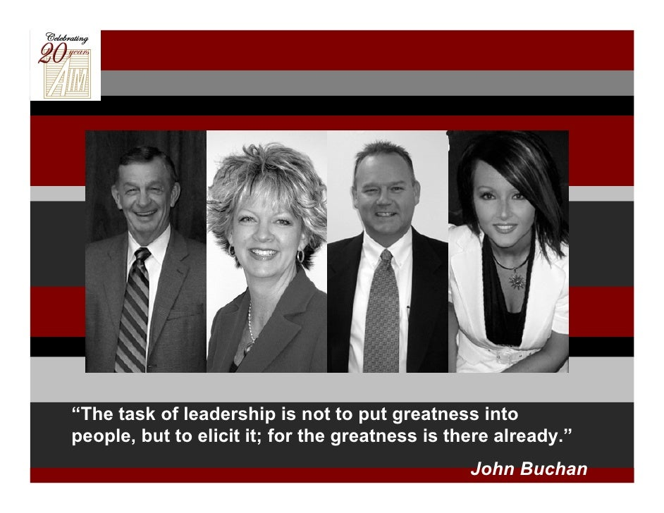 """""""The task of leadership is not to put greatness into people, but to elicit it; for the greatness is there already.""""       ..."""