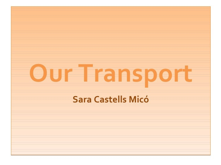 Our Transport Sara Castells Micó