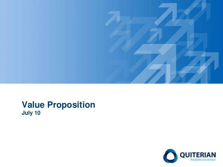 Value PropositionJuly 10<br />
