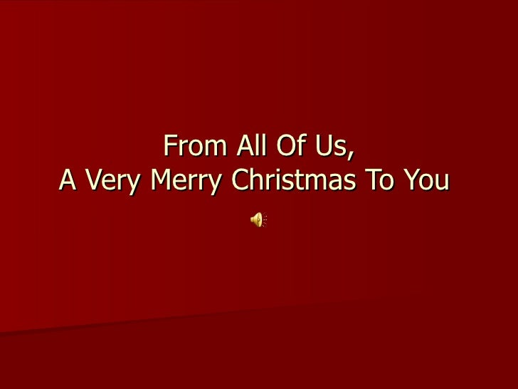 Our Very Own Christmas Greetings To All !