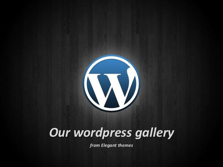 Our wordpress gallery <br />from Elegant themes<br />