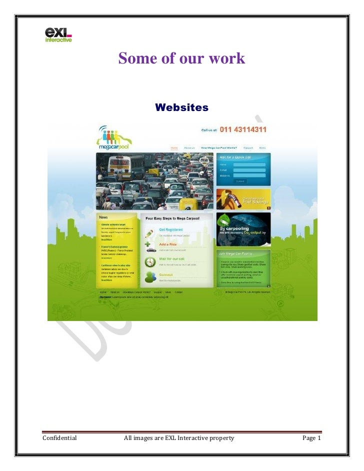 Some of our work                           Websites     Confidential   All images are EXL Interactive property   Page 1