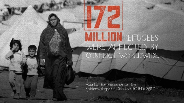WERE AFFECTED BY CONFLICT WORLDWIDE. millionREFUGEES 172 -Center for Research on the Epidemiology of Disasters (CRED) 2012