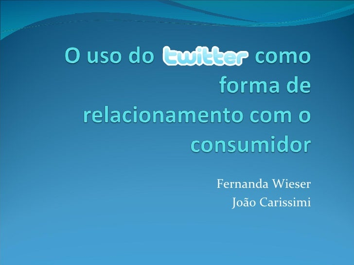 Fernanda Wieser João Carissimi