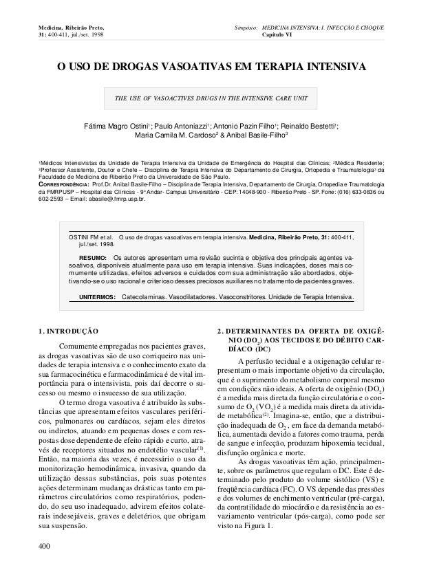 Medicina, Ribeirão Preto,                                                 Simpósio: MEDICINA INTENSIVA: I. INFECÇÃO E CHOQ...