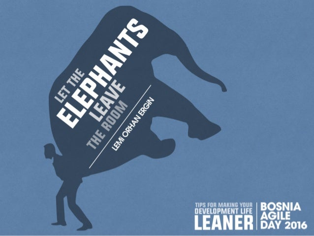 Let The Elephants Leave The Room - Remove Waste in Software Development - Bosnia Agile Day 2016
