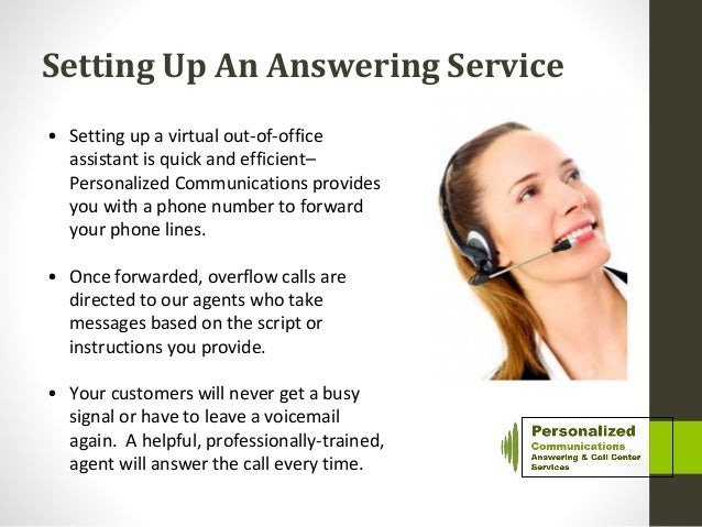 Out of-office virtual receptionist services