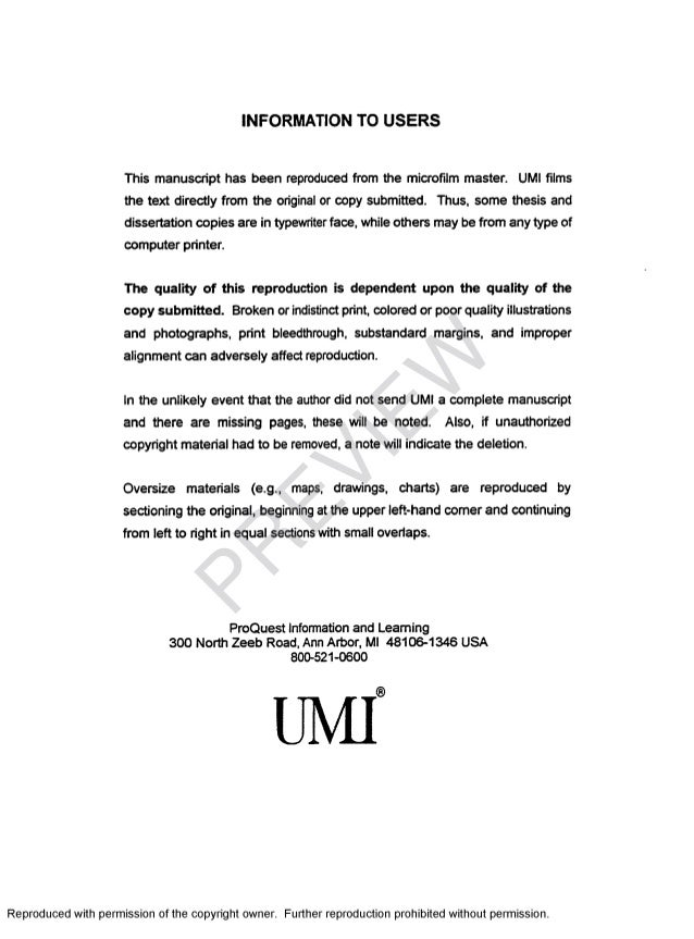 INFORMATION TO USERS This manuscript has been reproduced from the microfilm master. UMI films the text directly from the o...