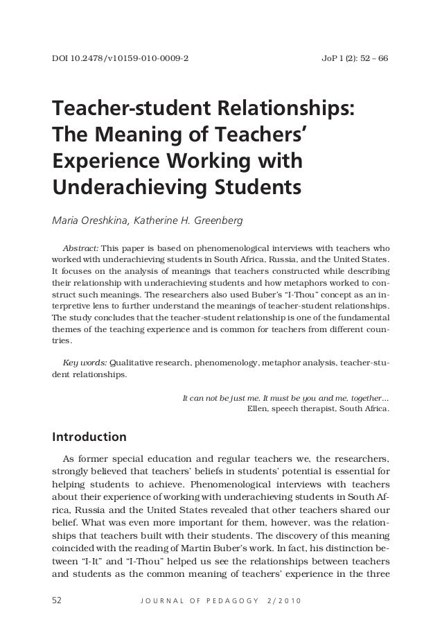 importance of student teacher relationships