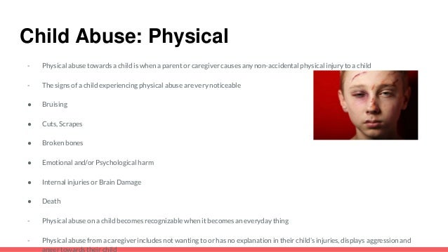 an introduction to the issue of physical abuse of children The relationship between parental substance  the relationship between parental substance abuse and the effects on young children  sexual abuse, physical abuse.