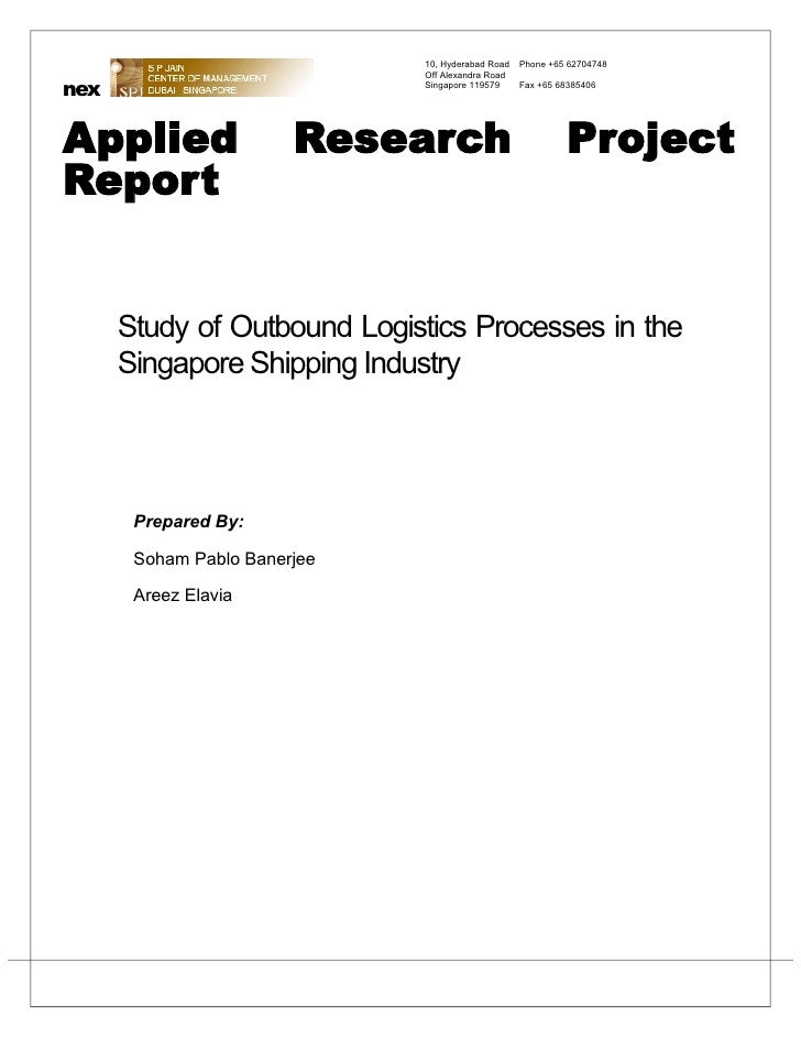 Study of outbound logistics in Singapore shipping industry