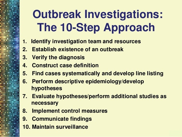 managing outbreaks of an infection essay The approach to infection outbreaks encompasses prevention, preparedness, detection and management (ppdm) how well staff in a care home perform outbreak ppdm, both individually and collectively, determines whether residents become sick, how many become sick and how sick they become.