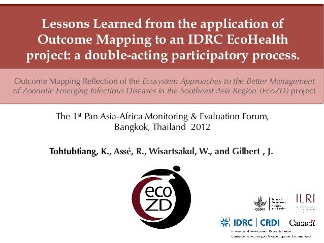Lessons Learned from the application of     Outcome Mapping to an IDRC EcoHealth   project: a double-acting participatory ...