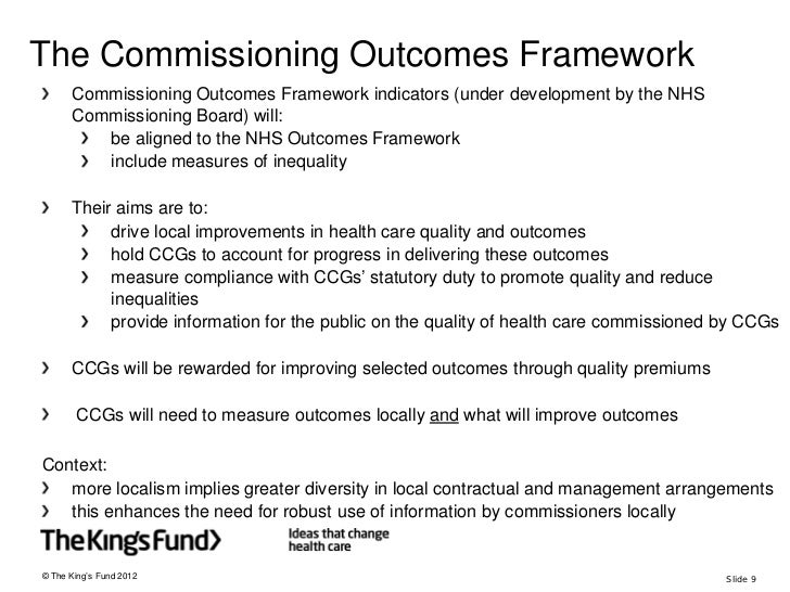 How To Commission For Improving Health Outcomes  An