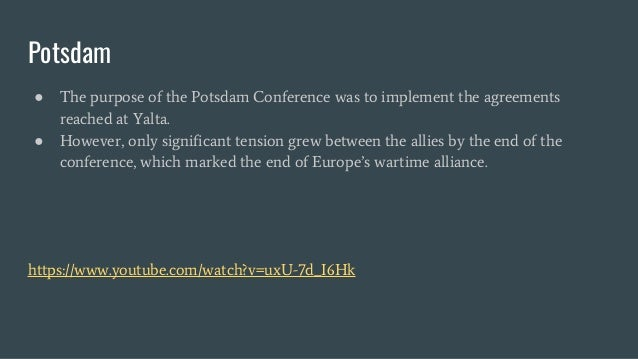 Outcomes Of Yalta And Potsdam