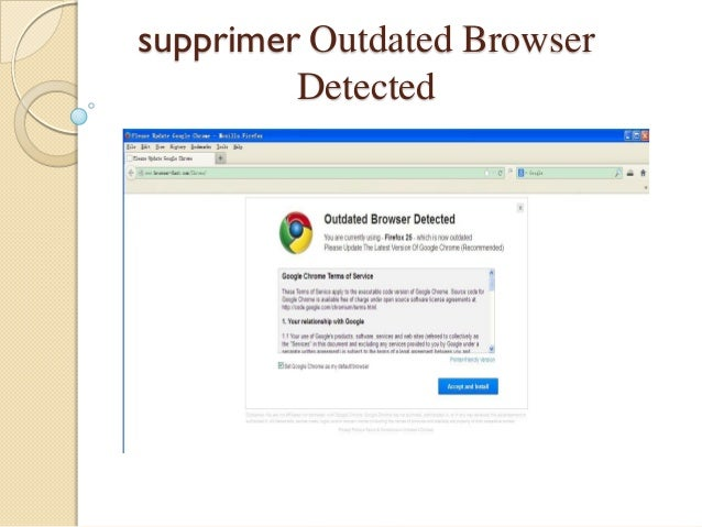 supprimer Outdated Browser Detected