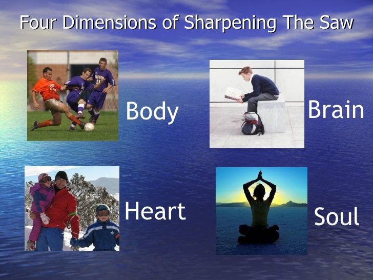 Four Dimensions of Sharpening The Saw Heart Body Brain Soul