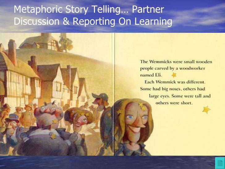 Metaphoric Story Telling… Partner Discussion & Reporting On Learning