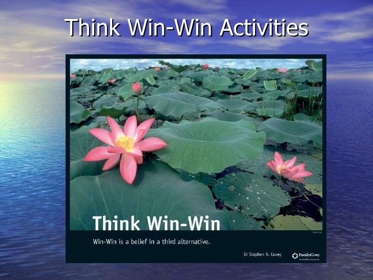 Think Win-Win Activities