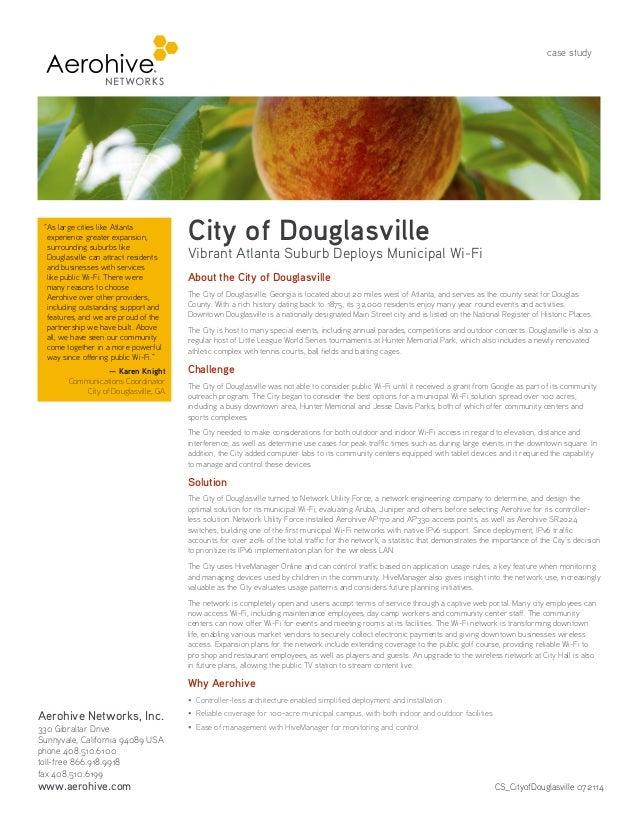 Outdoor Municipal WiFi Case Study