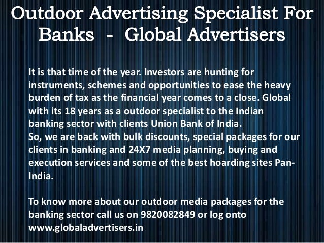 Outdoor advertising specialist for banks in bandra  global advertisers Slide 3