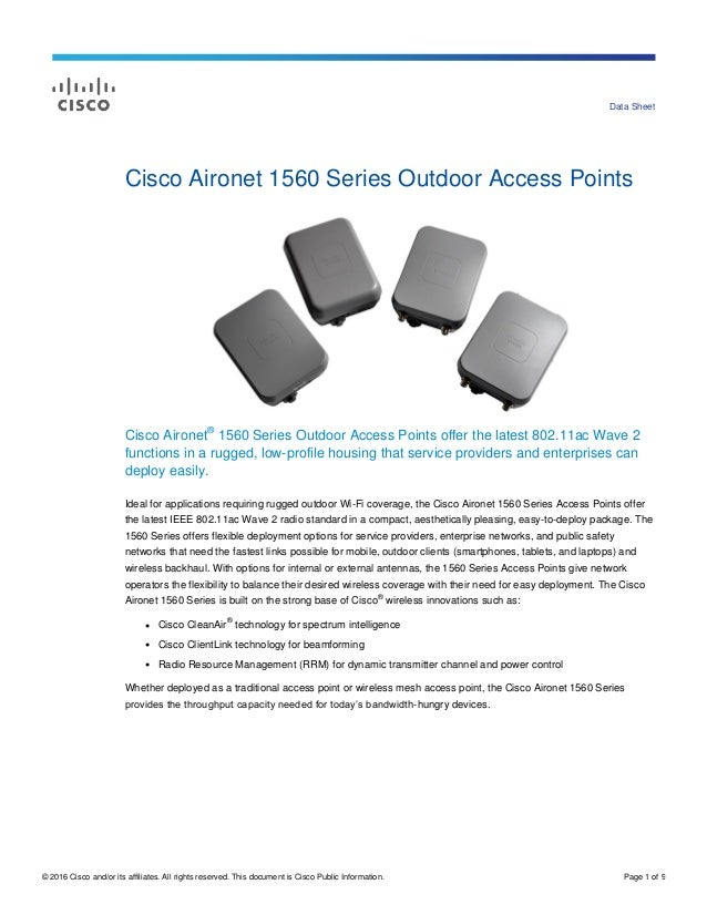 Outdoor ap datasheet c78-737416