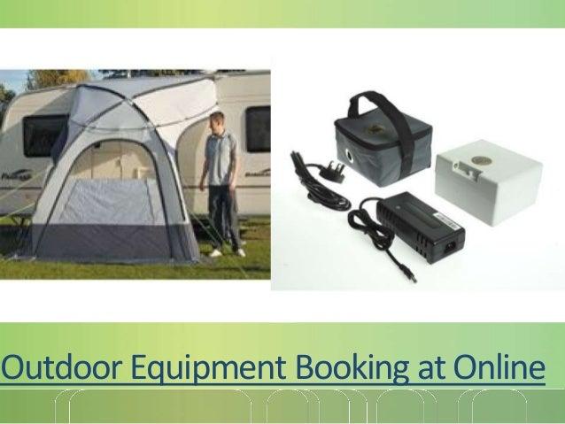 Outdoor Equipment Booking at Online