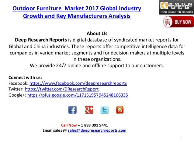 ... Furniture Market 2017 Global Industry Growth And Key Manufacturers  Analysis; 5.