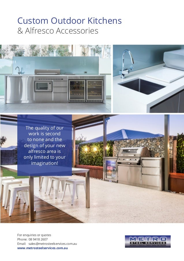 Custom Outdoor Kitchens & Alfresco Accessories The quality of our work is second to none and the design of your new alfres...