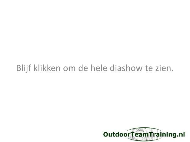 Hedendaags Outdoor koken = teambuilding CQ-25
