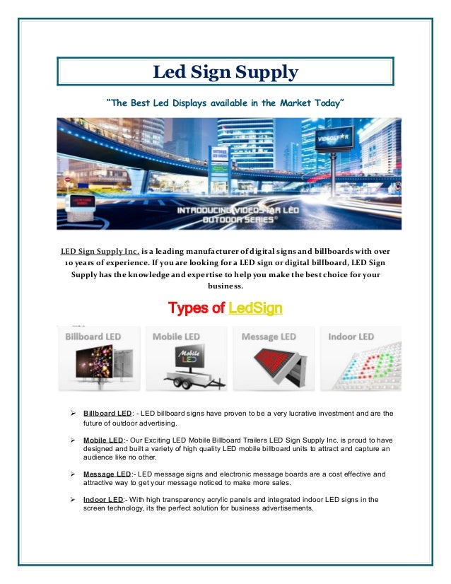 LED Advertising Signs Price