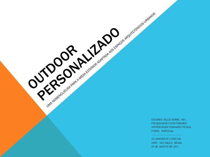 EDUARDO ZILLES BORBA, MSC.PESQUISADOR E DOUTORANDOUNIVERSIDADE FERNANDO PESSOAPORTO, PORTUGAL-----------------------------...