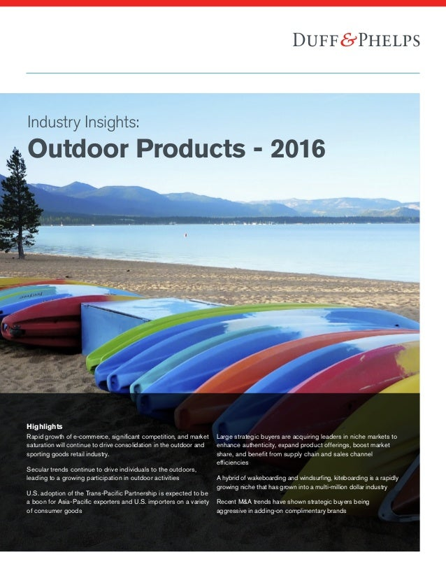 Outdoor Products Industry Insights 2016