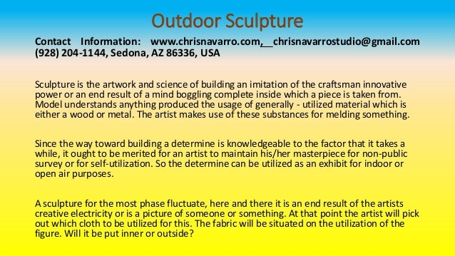 outdoor sculpture contact information www chrisnavarro com chrisnavarrostudio gmail com