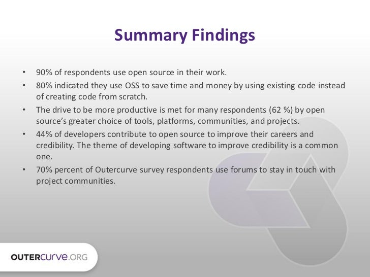 Outercurve foundation survey s...